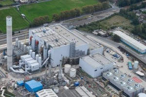 An aerial view of the energy-from-waste plant in Runcorn.